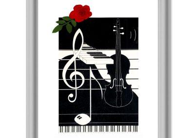 Grafik klassische Musik