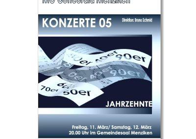 Flyer für Musikkonzert
